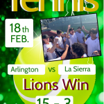 Tennis win over La Sierra
