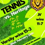 Another WIN in the books for Boys Tennis 4-1 overall