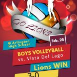 Boys Volleyball Wins home opener vs Vista Del Lago