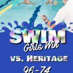 Girls Swim defeat Heritage