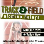 Track finishes in top 6 at The Palomino Relays