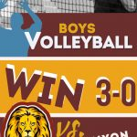 Boys Volleyball win over Canyon Springs
