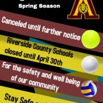 Spring Sports Canceled until further notice