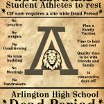 CIF mandated Dead Period for Arlington – REVISED