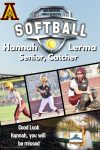 Senior Shout Out! Hannah Lerma  – Softball