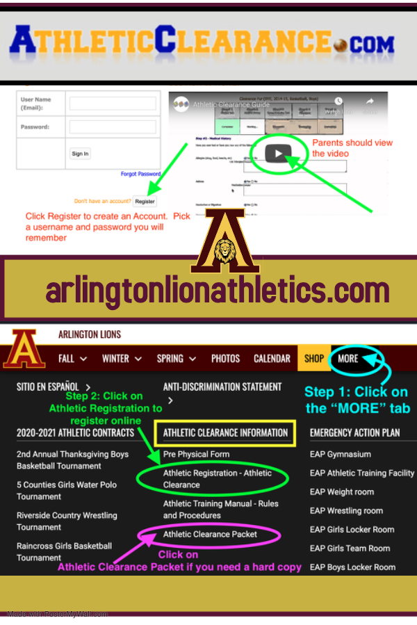 Athletic Clearance packet: online registration – AthleticClearance.com