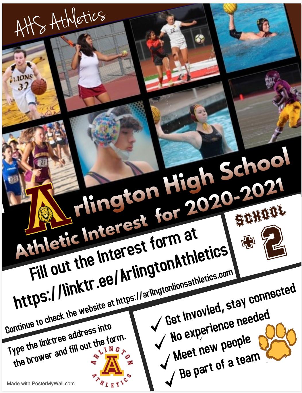 Athletic Interest Form for Arlington Athletics