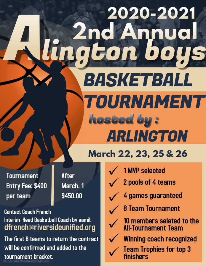 New dates for the 2nd Annual Boys Basketball Tournament