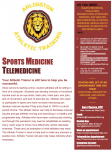 Athletic Trainers are still working hard for you – Telesportsmedicine
