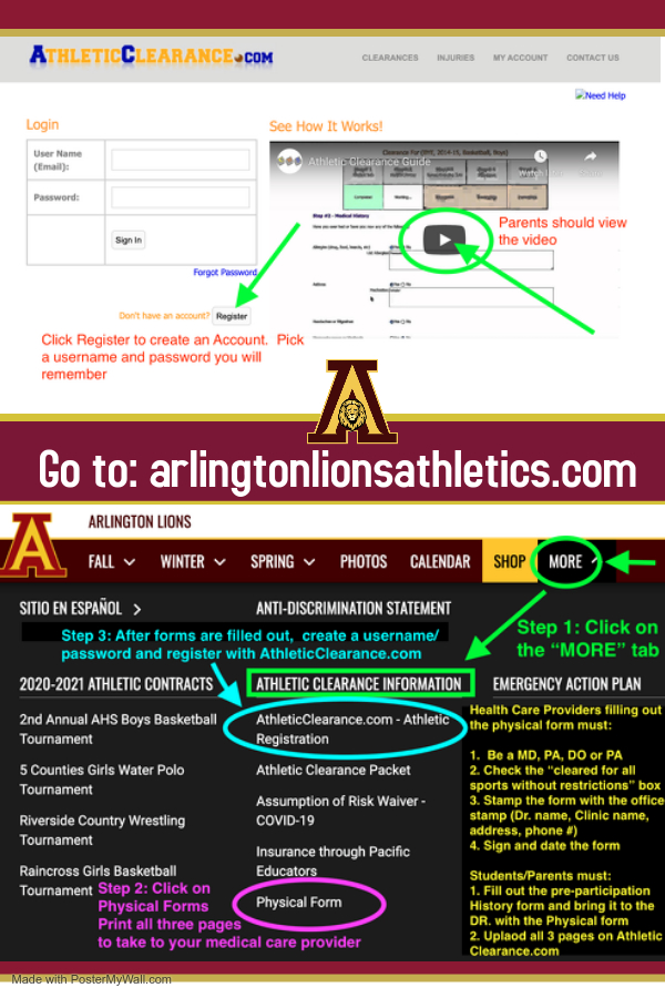AthleticClearance.com – REGISTER ONLINE for ATHLETIC & ACTIVITY CLEARANCE
