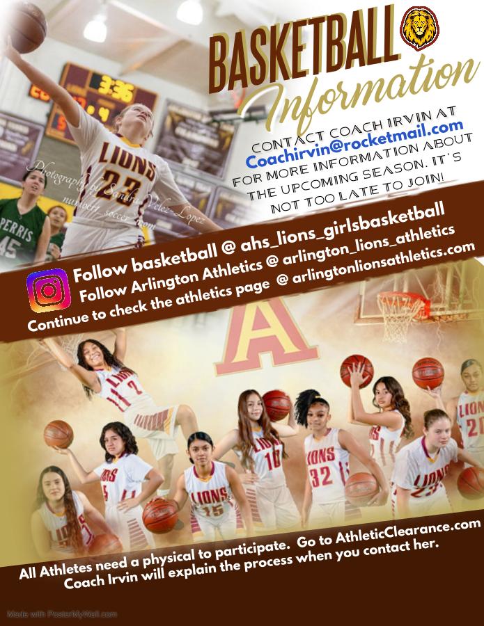 Girls Basketball Information – Contact Coach Irvin