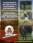 Interested in being a part of the Boys or Girls Golf team.  There is still time!