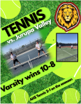 Tennis takes on Jurupa Valley –  10-8 win!