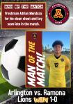 Boys Soccer Defeat Ramona 1-0 – Man of the Match, Adrian Mendoza