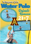 Arlington defeats Ramona in Girls Water Polo 21-7