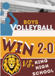 JV Boys Volleyball WIN in 2 sets.