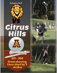 Golf, 3 strokes short of a WIN- Fell to Citrus Hills 301-304