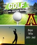 Boys Golf take a WIN over Jurupa Valley 301 – 345