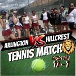 Girls Tennis Beat Hillcrest in RVL Play
