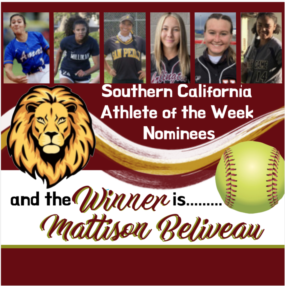 Mattison Beliveau – Southern California's Athlete of the Week