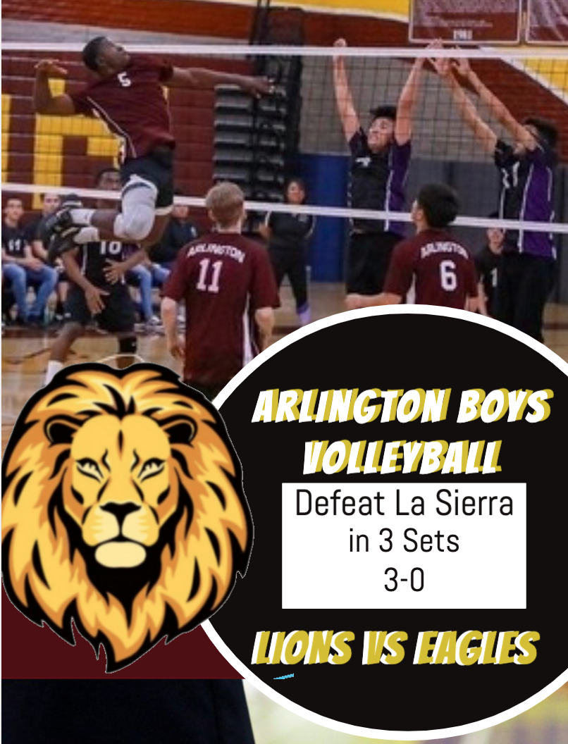 La Sierra and Arlington meet on the Court: Lions WIN in 3 sets