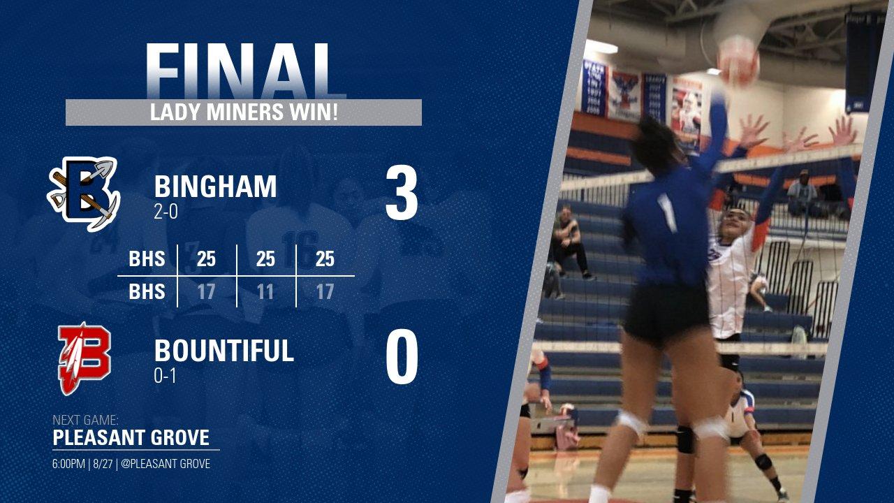 Bingham Volleyball sweeps Bountiful
