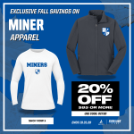 20% Off Miners Sideline Store!