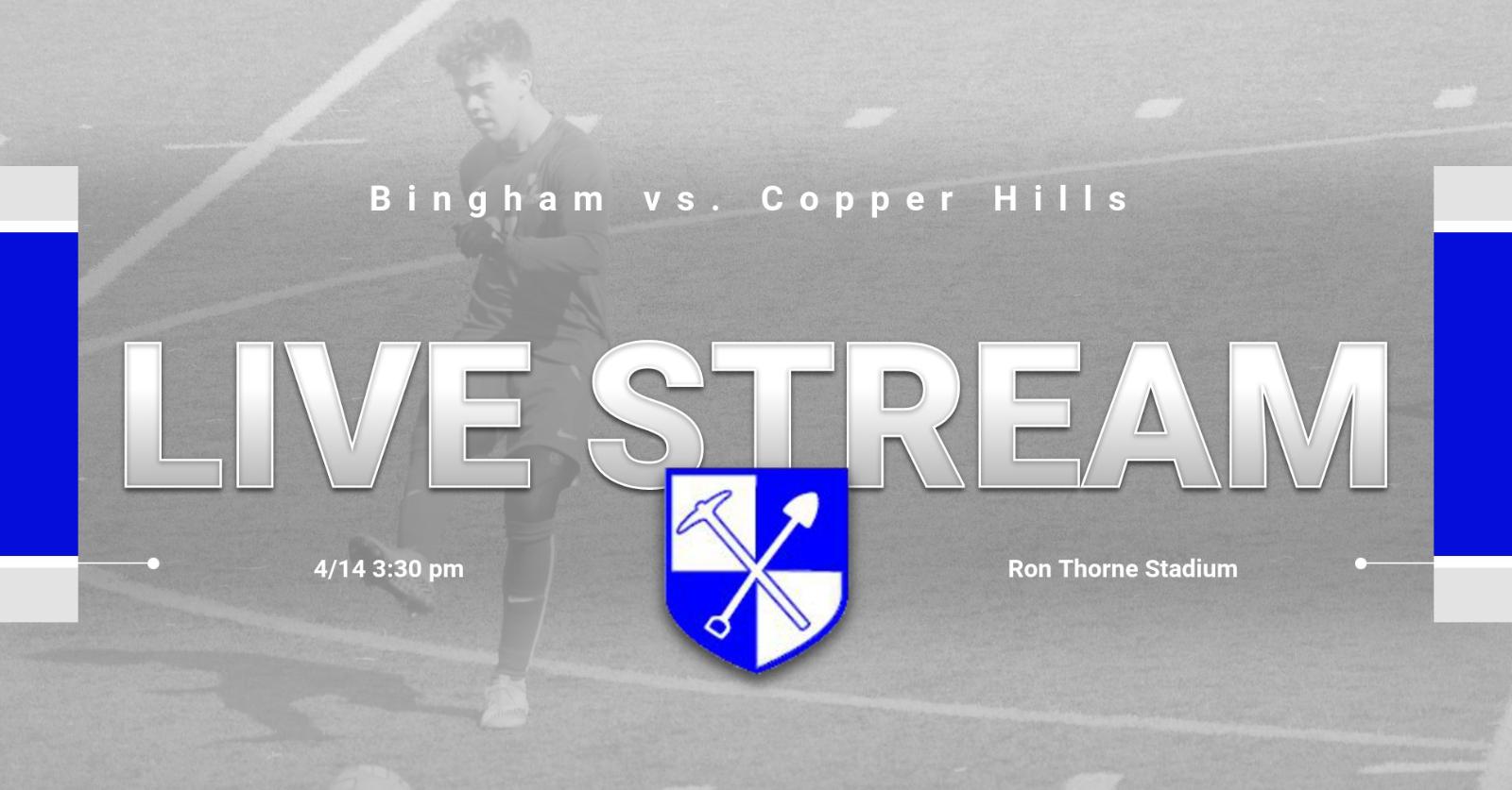 Soccer vs. Copper Hills- Live Stream