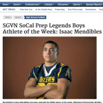 Mendibles Athlete of the Week
