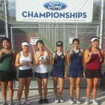 Anna and Milena capture league tennis doubles title