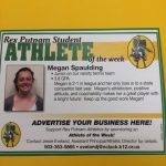April 14th Athlete of the Week, Megan Spaulding