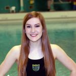Elizabeth Rainville sets school record.