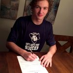 Drew Urben signs with South Dakota School of Mines to play soccer!