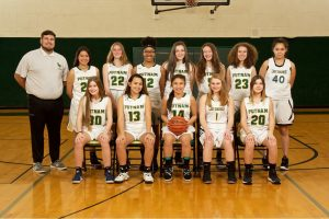 2018 JV Girls Basketball team photo