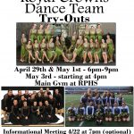 2019 Dance Team tryouts start April 29th