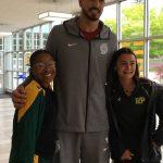 Enes Kanter visits with Putnam students