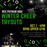 Winter Cheer tryouts begin October 1st
