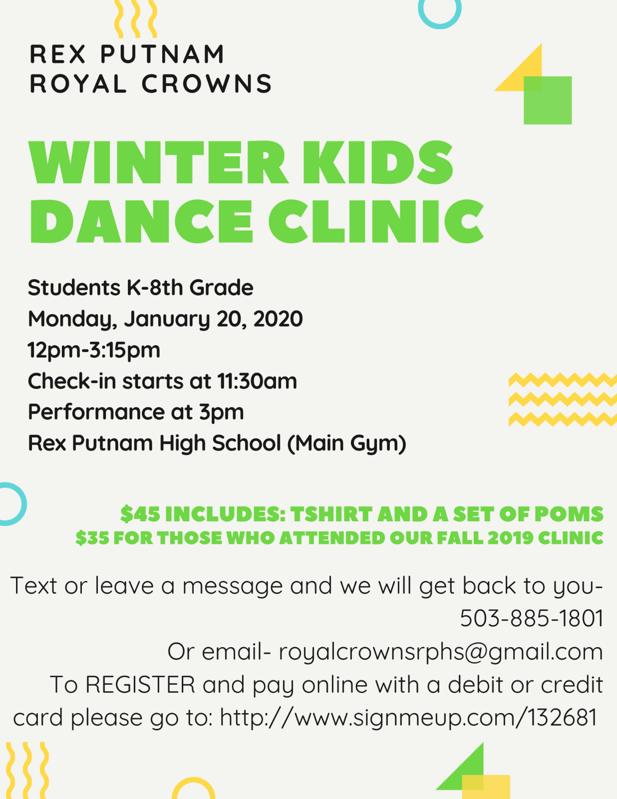 Royal Crowns Winter Kids Dance Clinic