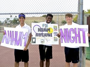 Tennis Senior Night