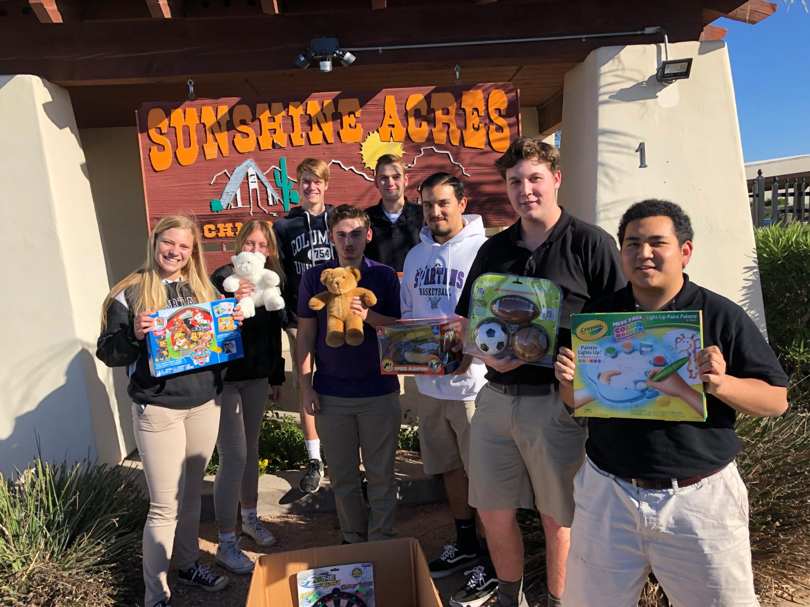Spartan Hoops Toy Drive