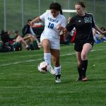 Millard North High School Girls Junior Varsity Soccer beat Millard West High School 2-1