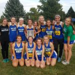 Millard North High School Girls Varsity Cross Country finishes 1st place