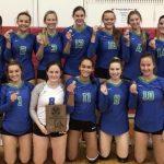 Girls Varsity Volleyball beats Marian 2 – 1