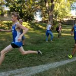 Senior and team captain Sunny Mallina led the Millard North varsity boy's cross country team at the Millard South Invite at Walnut Grove Park