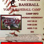 2017 Fox Creek Summer Youth Baseball Camp Info