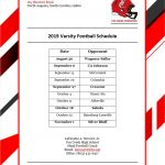2019 FCHS Varsity Football Schedule Released