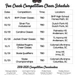 FCHS Competitive Cheerleading Competitions Begin Saturday!