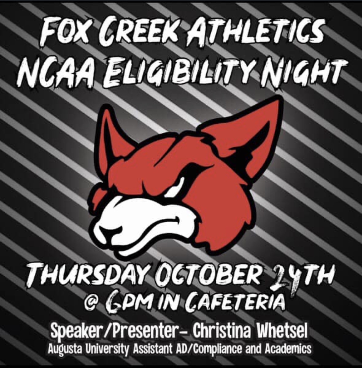 NCAA Eligibility Night Thursday, October 24th