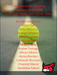 Varsity Girls Tennis Team Begins Region Play