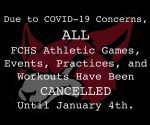 IMPORTANT: ALL FCHS Athletic Activities Have Been CANCELLED Until January 4th